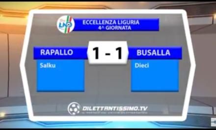 Eccellenza Ligure 02/10/2016 RAPALLO – BUSALLA 1-1 |