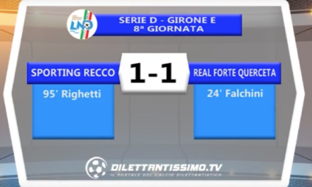 SPORTING RECCO – REAL FORTE  SERIE D