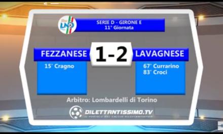 VIDEO: FRZZANESE-LAVAGNESE 1-2 SERIE D Girone E 11ª giornata