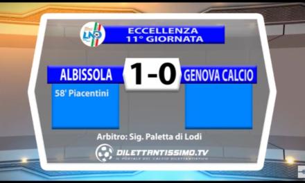 VIDEO: ALBISSOLA-GENOVA CALCIO 1-0. ECCELLENZA 11ª giornata