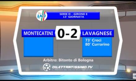 VIDEO: MONTECATINI-LAVAGNESE 0-2. Serie D 13ª Giornata. LAVAGNESE CAPOLISTA!