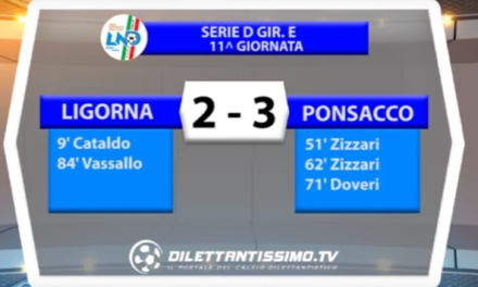 SERIE D GIR.E LIGORNA – PONSACCO 2-3