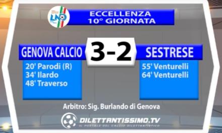 ECCELLENZA  LIGURE   GENOVA CALCIO – SESTRESE 3-2