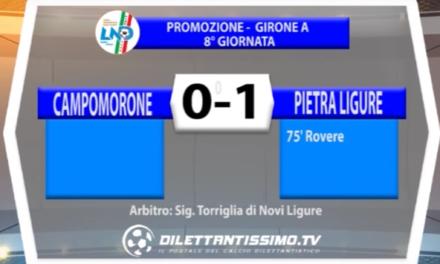 PROMOZIONE GIRONE A   CAMPOMORONE – PIETRA LIGURE 0-1