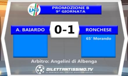 A.BAIARDO – RONCHESE 0-1   PROMOZIONEGir. B  9a Giornata