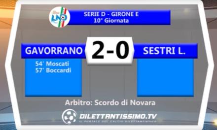 SERIE D 06/11/16 – GAVORRANO – SESTRI 2-0
