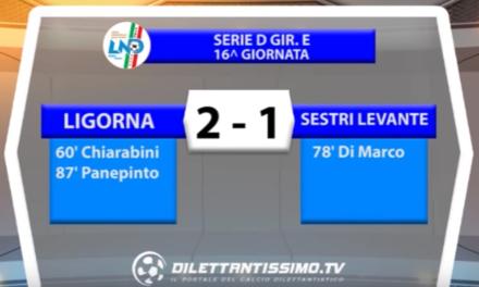 LIGORNA – SESTRI LEVANTE 2-1 | SERIE D GIR. E  16a giornata