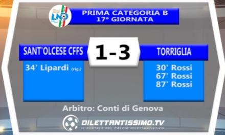 SANT'OLCESE CFFS – TORRIGLIA 1-3 | PRIMA CATEGORIA B