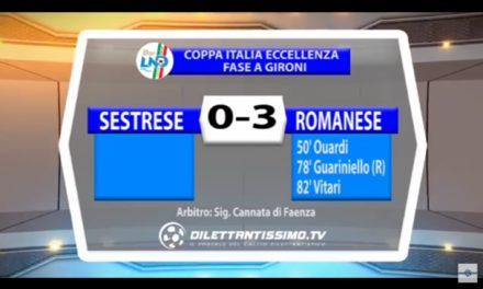 VIDEO COPPA ITALIA: SESTRESE – ROMANESE 0 – 3