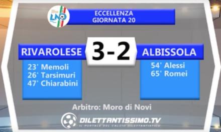 RIVAROLESE – ALBISSOLA 3-2 | ECCELLENZA