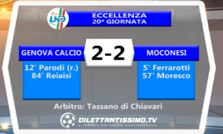 GENOVA CALCIO – MOCONESI 2-2 | ECCELLENZA LIGURE