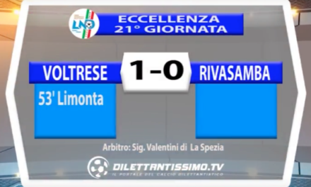ECCELLENZA LIGURE   VOLTRESE – RIVASAMBA 1-0