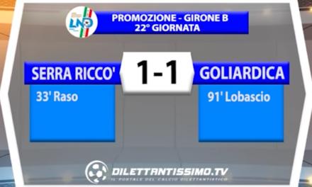 PROMOZIONE Girone B     SERRA RICCO' – GOLIARDICA