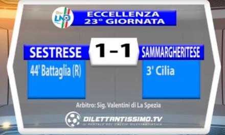 SESTRESE – SAMMARGHERITESE 1-1 | ECCELLENZA LIGURE