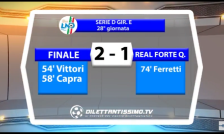 VIDEO: FINALE – REAL FORTE Q. 2-1. Serie D Girone E