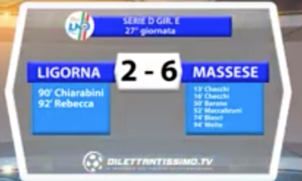 LIGORNA – MASSESE 2 – 6  SERIE D GIR. E