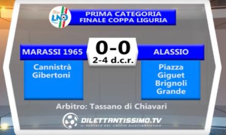 MARASSI 1965 – ALASSIO 0-0 (2-4 d.c.r.) – FINALE COPPA LIGURIA PRIMA CATEGORIA