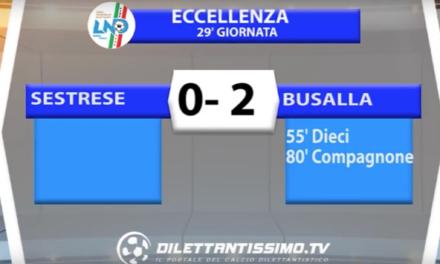 SESTRESE – BUSALLA 0-2 | ECCELLENZA