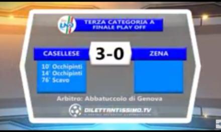 VIDEO. CASELLESE – ZENA 3-0. Play Off 3ª Categoria