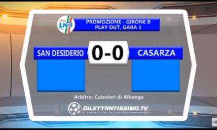 VIDEO: SAN DESIDERIO – CASARZA 0-0 Play Out Promozione B