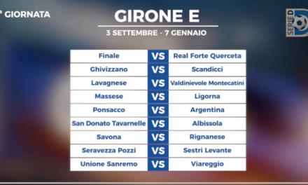 SERIE D Girone E: il calendario 2017/2018. Tutte le date delle 34 giornate