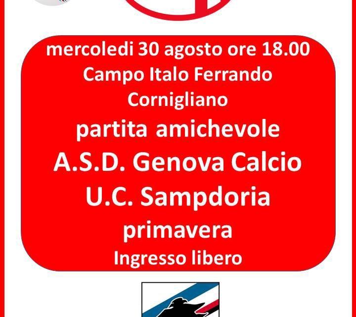 GENOVA CALCIO oggi l'amichevole con la SAMPDORIA