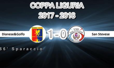 VIDEO Coppa Liguria: DIANESE&GOLFO-SAN STEVESE 1-0