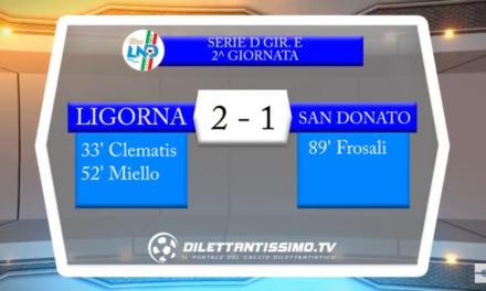 VIDEO: LIGORNA – S.DONATO TAVERNELLE 2-1. Serie D Girone E 2ª giornata