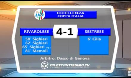 VIDEO: RIVAROLESE – SESTRESE 4-1. Coppa Italia 10/09/17