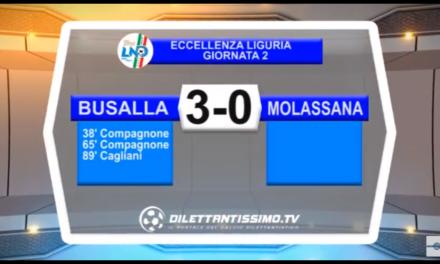VIDEO: BUSALLA-MOLASSANA 3-0. Eccellenza 2ª Giornata