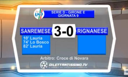 Video: Sanremese-Rignanese 3-0. Serie D 9ª Giornata