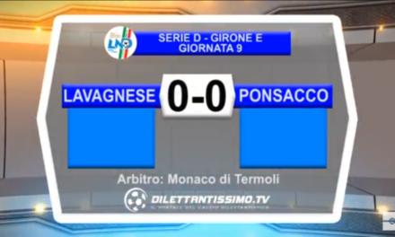 Video: Lavagnese- Ponsacco 0-0. Serie D 9ª Giornata