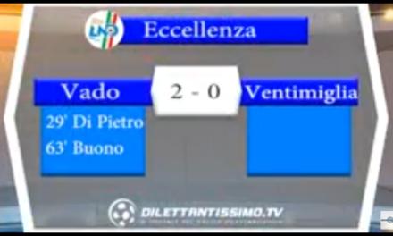 Video: VADO-VENTIMIGLIA 2-0. Eccellenza 5ª Giornata