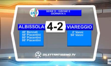 VIDEO: ALBISSOLA – VIAREGGIO 4-2. Serie D 5ª Giornata