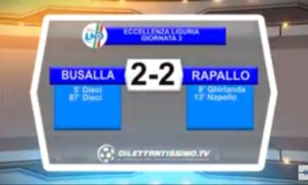 VIDEO: BUSALLA-RAPALLO 2-2. Eccellenza 3ª Giornata