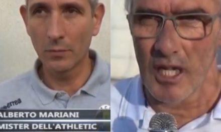 POGGI e MARIANI: nell'immediato dopo gara di BAIARDO – ATHLETIC 0-0