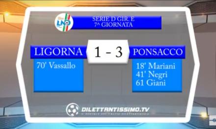 Video. LIGORNA-PONSACCO 1-3. Serie D Girone E