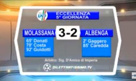Video: MOLASSANA-ALBENGA 3-2. Eccellenza 5ª Giornata. 15/10/2015