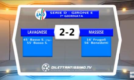 Video: LAVAGNESE-MASSESE 2-2 Serie D Girone E. 7ª Giornata 15/12/2017