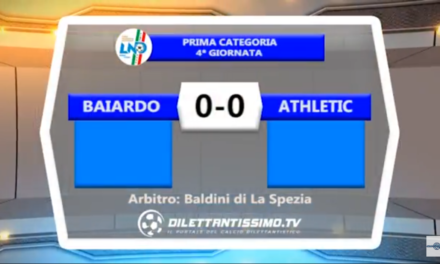 Video. BAIARDO-ATHLETIC 0-0. Promozione B 4ª Giornata