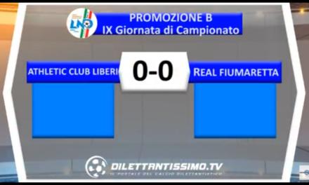 Video, ATHLETIC-REAL FIUMARETTA 0-0, Promozione B 9ª Giornata