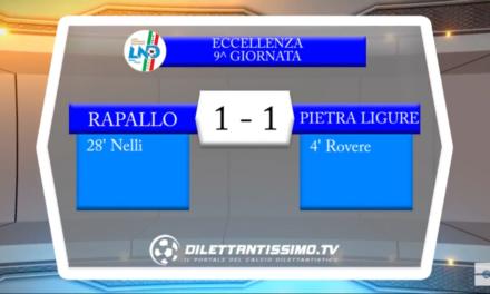 Video: Rapallo-Pietra Ligure 1-1, Eccellenza 9ª Giornata