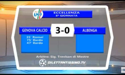 VIDEO: Genova Calcio-Albenga 3-0. Eccellenza 8ª Giornata
