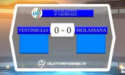 Video: Ventimiglia-Molassana 0-0. Eccllenza 8ª Giornata