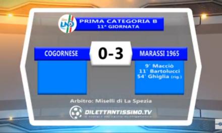 Video 1ª CATEGORIA B, Cogornese – Marassi 0-3. Interviste a Parodi e Pinasco