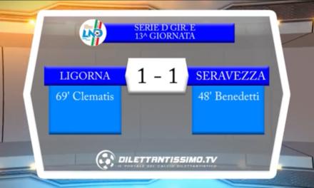 Video: Ligorna – Serravezza Pozzi 1-1, Serie D Girone E, 13^ Giornata