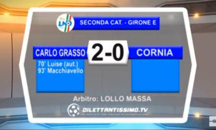 Video, CARLO GRASSO-CORNIA 2-0, 2ª Categoria E
