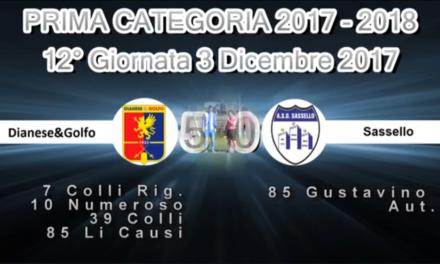 VIDEO: Golfo & Diano-Sassello 5-0. 1ª Categoria A 12ª Giornata