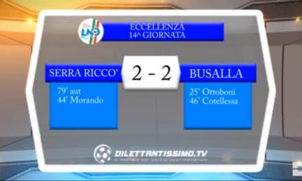 Video: SERRA RICCO'-BUSALLA 2-2. Eccellenza 14^ Giornata