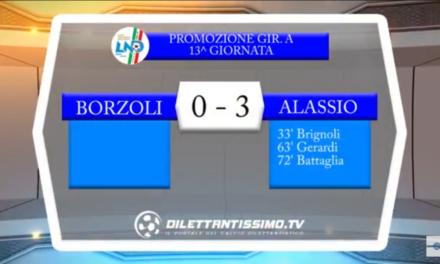 Video: BORZOLI-ALASSIO 0-3. Promozione A 13^ Giornata. Intervista a Mister Di Latte